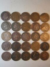 25 INDIAN HEAD IH PENNIES CENTS COIN COLLECTION LOT OLD RARE ANTIQUE 1900 - 1908