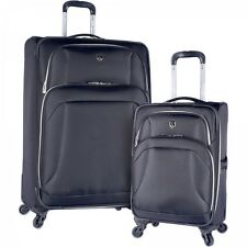 2 Piece Spinner Luggage Set Travel Suitcase Wheeled Spinner Black Expandable New