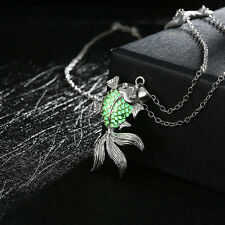 Delicate Goldfish Glow In The Dark Pendant Choker Necklace New Style Jewelry