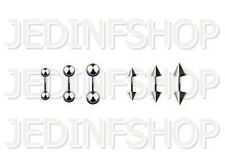 Straight Barbell Tongue Nipple Bar - 1.2mm (16g) - 8mm - Stainless Steel