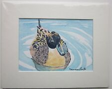 "Original Watercolour Painting of a Pintail Duck 10"" x 8"""