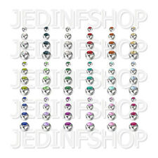 Spares Replacements - Gem Balls - Steel - 1.6mm (14g) - 3mm 4mm 5mm 6mm