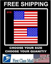 RIGHT & LEFT American Flag USA mirrored Vinyl Decals for Boat truck car/sticker