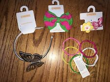 NWT/New Gymboree ISLAND LILY Hair Accessories, Ponytails, Headband & Barrette