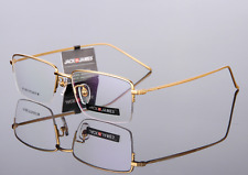 Pure titanium eyeglasses half rimless mens Glasses Spectacles Optical Rx frame