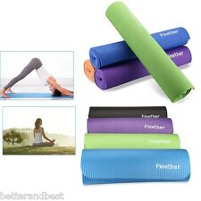 6/10/15mm Yoga Mat Thick Foam Gym Exercise Blanket Pilates Non Slip Fitness Pad
