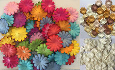 100 X Mulberry Paper Daisy Flowers Embellishment Scrapbooking 25mm/1""