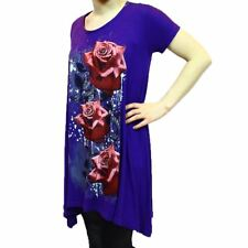 Purple Rose patterned Top - PLUS SIZES