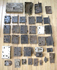 Large Lot of Rusty and Vintage Door Locks & Latches