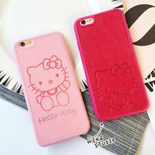 Hello Kitty Girls PU Leather Case Cover For iPhone 6 6s 7 8 plus Hard Pink Cover