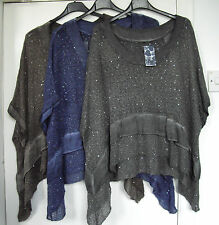 New - ITALIAN LAGENLOOK  - FREE SIZE -  mohair mix LAYERING top / poncho - BNWT