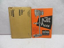 Vintage 1950 Sears Roebuck Craftsman The Drill Press Manual Book Excellent Cond