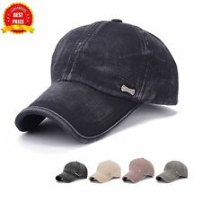 2017 New Style Men Cotton Solid Color Baseball Cap Spring Summer Sun Shade Cap~B