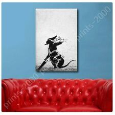 POSTER Or STICKER Decals Vinyl Rat With Dollar Eyes And Jigsaw Banksy Artwork