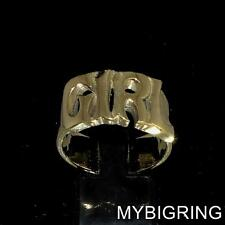 STUNNING BRONZE BAND RING GIRL ONE WORD BOLD LETTERS HIGH POLISHED ANY SIZE