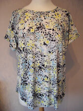 new M&S - 8 10 12 16 - pretty Yellow/Grey/White print ladies TOP/ Tunic- BNWoT