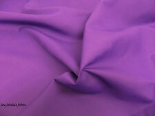 PURPLE PLAIN POLYCOTTON FABRIC * Per Meter /Half Meter/Fat Quarter*
