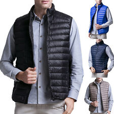 2017 Mens 90% Duck Down Ultralight vest Stand collar Puffer Jacket Outdoor Coat