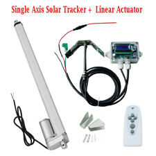 12V Volt Single Axis Solar Tracking Tracker W/ Linear Actuator for System Kit
