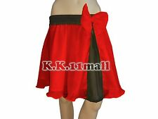 Red & Black Short Skirt Party Wear Casual Chiffon Fabric Pleated Short Skirt