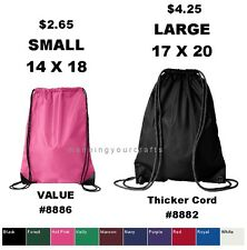 Small OR Large Liberty Bags Drawstring Backpack Cinch School Sack 8886 OR 8882