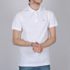 Mens Tommy Hilfiger Short Sleeve White Flag Polo Shirt