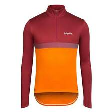 Rapha Long Sleeve Club Cycling Jersey Dark Red / Orange Size Medium  BNWT