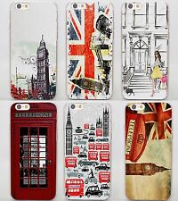 London style Big Ben Telephone Box flag hard clear Covers Cases for Apple iPhone