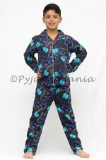 Pyjamas Boys Winter Flannel (Sz 3-7) Pjs Set Grey Motorbikes Sz 3 4 5 6 7