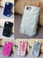 Luxury Warm Soft Fur Hair Back Case Cover For iPhone 4 4S 5/5S 5C 6/6s 7 Plus