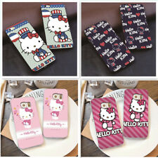 Pink Striped Hello Kitty Hard Back Case for iPhone 4 4s 5 5s 5C 6s 7 plus Girls