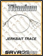 """Savage Gear """"TITANIUM JERKBAIT TRACE"""" with swivels and Spring needle snap"""