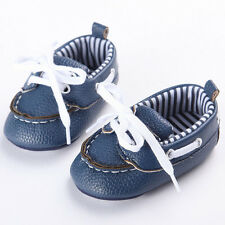 Baby Kids Lace Up Leather Shoes Infant Boys Girls Sneakers Newborn First Walkers