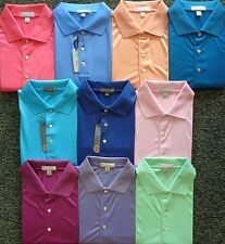 NEW MENS PETER MILLAR S/S SOLID SUMMER COMFORT LISLE POLO SHIRT,LARGE,PICK COLOR