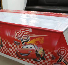 NEW Disney Cars McQueen Birthday Party Plastic Tablecloth - 108cms x 180cms