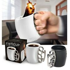 Creative Fist Cup Brass Knuckle Duster Handle Cup Coffee Milk Ceramic Mug Gifts