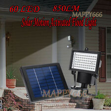 60 LED Outdoors Waterproof Solar Motion Activated Flood Light Security IP65 Set