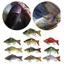 Multi Jointed Fishing Lure Bait Bass Perch Walleye Roach Trout Swimbait H0G3