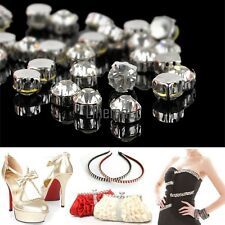 50pcs Crystal Rhinestone Jewelry Accessories Silver Plated Polyhedron Beads LM02