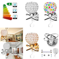Modern E14 Crystal Wall Lamp Sconce Light Fixture Bedroom Aisle Bedside Lighting