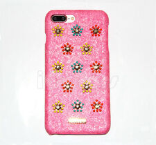Bling Diamond Leather Case For iPhone 6 6s 7 7 Plus W/H SWAROVSKI ELEMENTS Pink