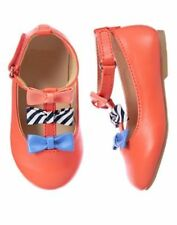 NWT Gymboree Coral T-Strap Flats Dress shoes Toddler girls 5,6,7,8,9 AWAY WE GO
