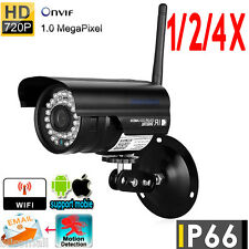 1/2/4PCS Wireless WiFi 720P HD IP Network CCTV Security Camera IR Night Vision
