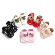 Newborn Baby Prewalker  Soft Sole Sneakers Girls  Leather Crib Shoes