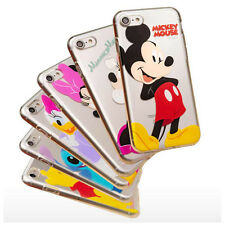 Disney Genuine Color Clear iPhone 6 7 S Plus Galaxy S7 Case Cover Mickey Minnie