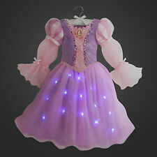 NWT DISNEY STORE PRINCESS RAPUNZEL LIGHT-UP COSTUME DRESS GOWN 9/10 Girl