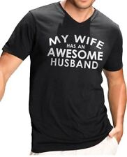 My Wife has an AWESOME Husband V-neck T-Shirt cool tshirt designs funny tees