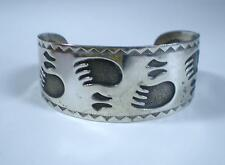VINTAGE STERLING BELL TRADING POST BEAR PAW CLAW CUFF BRACELET-REDUCED!!!