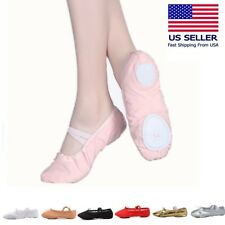 Ballet  Dance Yoga Gymnastics Split-Sole  Canvas Kids & Adult  Shoes Slipper