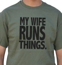 My Wife Runs Things cool tshirt designs funny tees Husband Gift Wife Gift